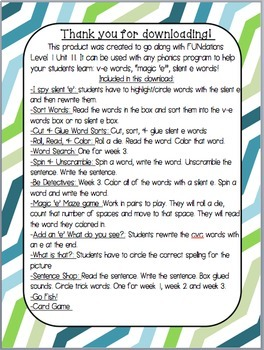1st Grade Phonics: Resources for learning v-e/silent 'e'/magic 'e' words!