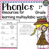 1st grade Phonics: Multisyllabic Words