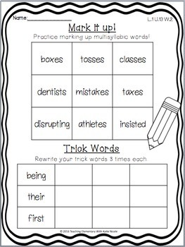 1st Grade Phonics:  Resources for Multisyllabic Words with suffixes!