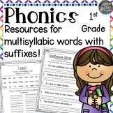 1st Grade Phonics:  Resources for Multisyllabic Words with