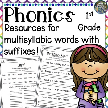 Level 1 Unit 13: Resources for Multisyllabic Words with suffixes!