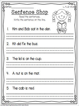 1st Grade Phonics: Resources for Words w/ 3 sounds