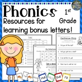 1st Grade Phonics: Resources for learning Bonus letters: -
