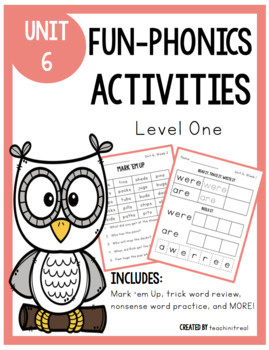 FUN-Phonics Level 1, Unit 6 Activities