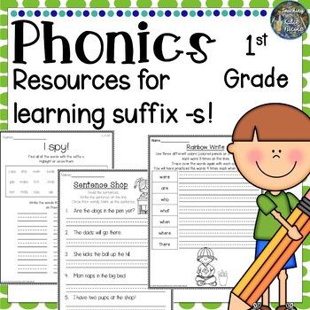Level 1 Unit 6 Resources for learning words with the Suffix 's'!