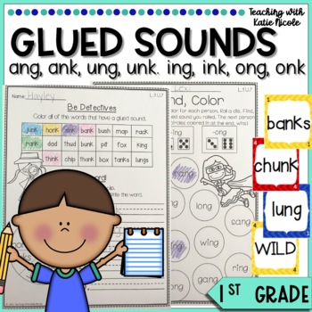 1st Grade Phonics Resources for Glued Sounds