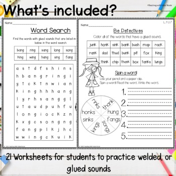 1st Grade Phonics Resources for Glued Sounds by Teaching ...
