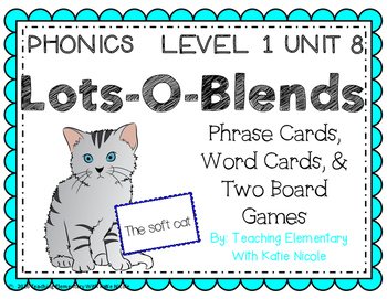 Phrase & Word Cards, Board & Card Games for learning consonant blends!