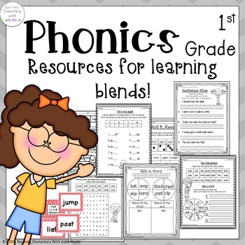 Resources for learning consonant blends: Activity Sheets & Games!