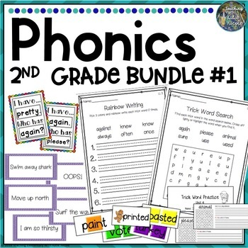 2nd Grade Phonics Resources & Activities: Bundle 1