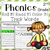 2nd Grade: Roll it, Read it, Color it! Practice reading sight/trick words!