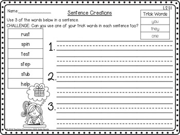 Level 2 Unit 1: Resources for digraphs, blends, & more than 3 sounds!