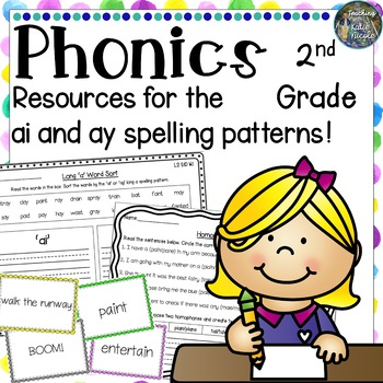 Resources for learning the long 'a' spelling patterns: 'ai' and 'ay'!
