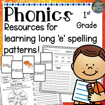 2nd Grade Phonics: Resources for learning the long 'e' spelling patterns
