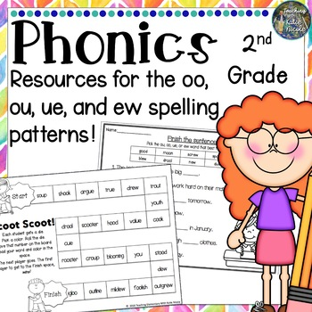 Resources for learning the long 'u' spelling patterns: ue, oo, ou, & ew!