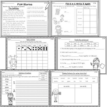 Phonics Second Grade: Resources for learning the 'au' and 'aw' spelling pattern