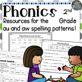 2nd Grade Phonics: Resources for learning the 'au' and 'aw' spelling pattern