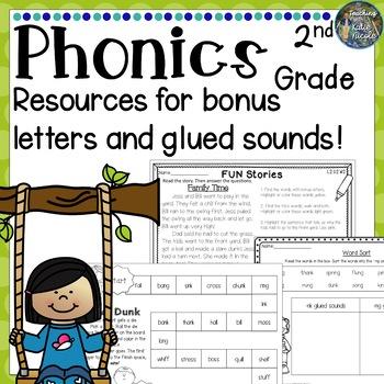 2nd Grade Phonics: Resources for bonus letters & glued sounds!