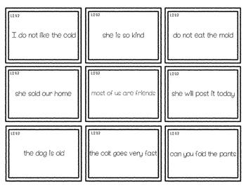 2nd Grade Phonics Glued sounds: ild, ind, ost, old, lot