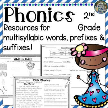 Phonics Level 2 Unit 5: Resources for multisyllabic words, prefixes & suffixes!