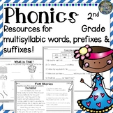 2nd Grade Phonics: Resources for multisyllabic words, pref