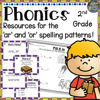 2nd Grade Phonics: Resources for learning 'ar', 'or' r-controlled syllable words