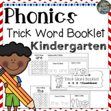 Kindergarten Trick Word Practice Book!