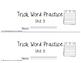 Trick/Sight Word Practice Book Level 2 Unit 3
