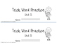 Trick/Sight Word Practice Book Level 2 Unit 5