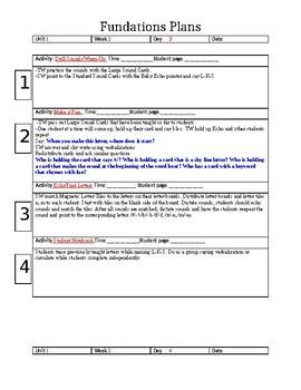FUNphonics Lesson Plans Grade K Unit 1 Week 2