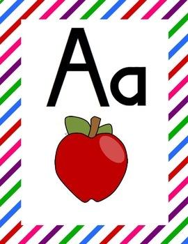 FUNtastic FUNdational Alphabet Poster Diagonal Stripes