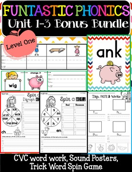 FUNtastic Phonics Level 1 Bonus Bundle Unit 1-3