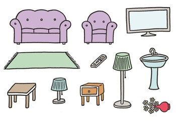 ROOMS AND FURNITURE - THE HOUSE Flashcards