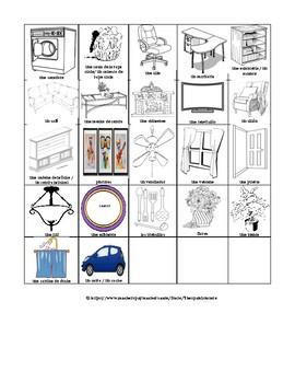 FURNITURE & ITEMS IN THE HOUSE/ ROOMS - QUE HAY EN LOS CUARTOS/LAS HABITACIONES