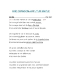 FUTUR SIMPLE/CHANSON AU FUTUR
