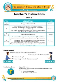 FUTURE PERFECT - 2 x English Grammar Speaking Activities