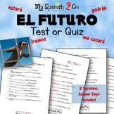 FUTURE TENSE:  Test or Quiz