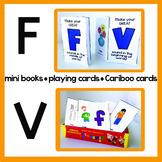 F & V Articulation Playing Cards, Mini Books, & Cariboo Ca