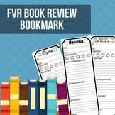 Free Voluntary Reading (FVR) Book Review Bookmark (Spanish Version)