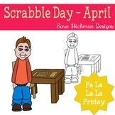 Fa La La Fridays Carter on Scrabble Day