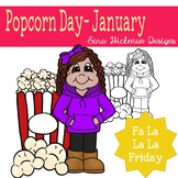 Fa La La Fridays Rosie on Popcorn Day