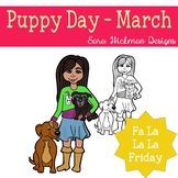 Fa La La Fridays Sandy on World Puppy Day