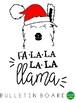 Llama Christmas Bulletin Board