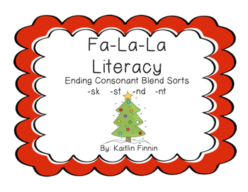Fa-La-La Literacy Ending Consonant Blends