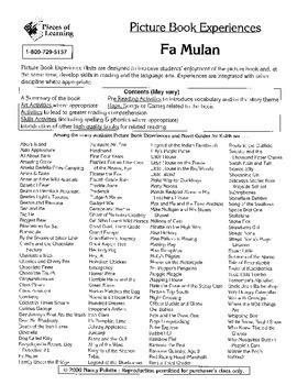 Fa Mulan Literature Guide