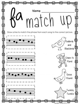 Music Worksheets for Fa {Ready Set Print!}