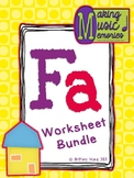 Fa Worksheet Bundle
