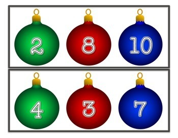 Fact Families Holiday Math Center