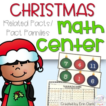 Fa-la-la-la FACT FAMILIES! {A Festive Holiday Math Tub Activity}