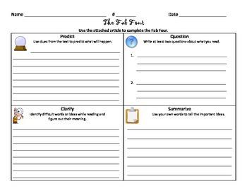 Fab 4 Worksheet